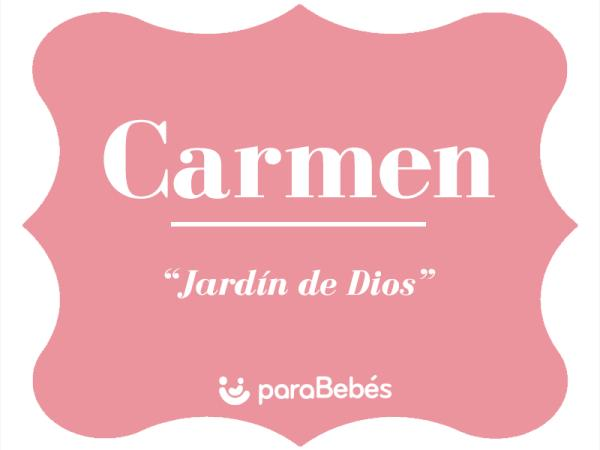 Significado del nombre Carmen
