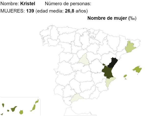 Significado del nombre Kristel - Popularidad del nombre Kristel