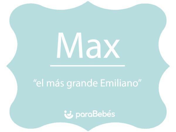 Significado del nombre Max
