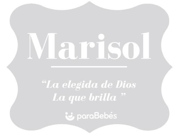 Significado del nombre Marisol