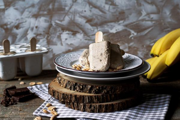 Recetas de Baby Led Weaning - Helados de plátano y crema de cacahuete