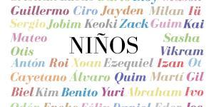 Los mejores nombres de niño