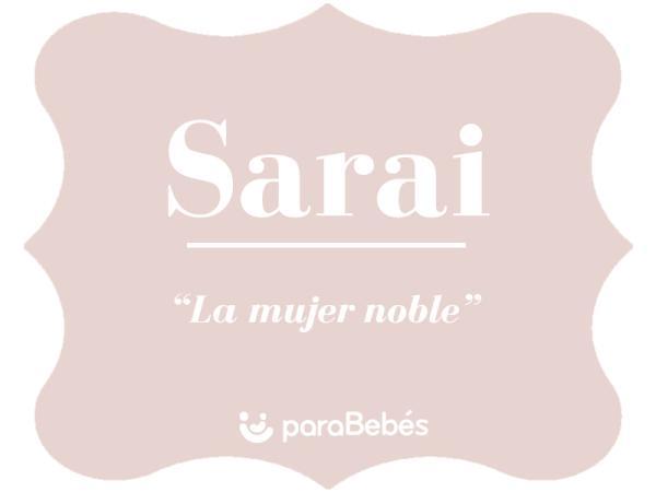 Significado del nombre Sarai