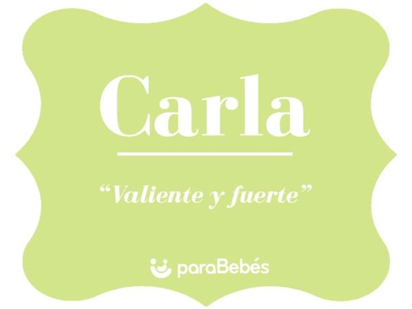Significado del nombre Carla
