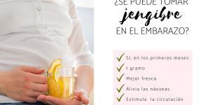 ¿Se puede tomar jengibre en el embarazo?