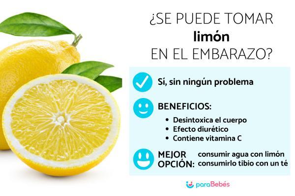 ¿Es malo comer limón en el embarazo?