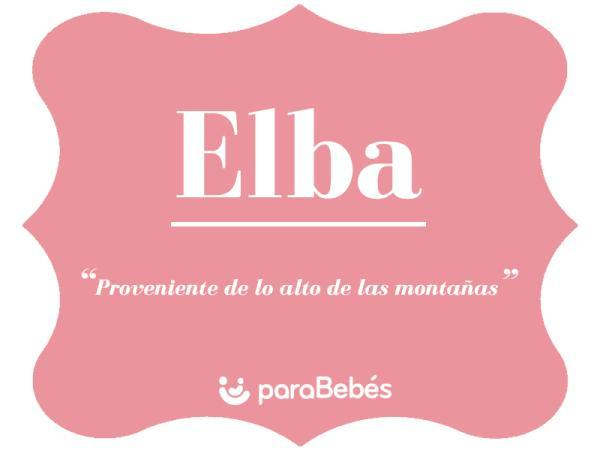 Significado del nombre Elba