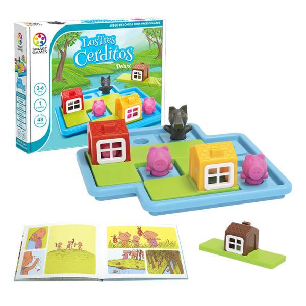 Juegos educativos para niños de 5 a 6 años - Los tres cerditos