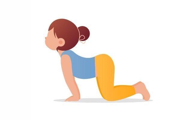 Posturas de yoga para niños - El gato