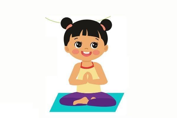 Posturas de yoga para niños - Giros oculares