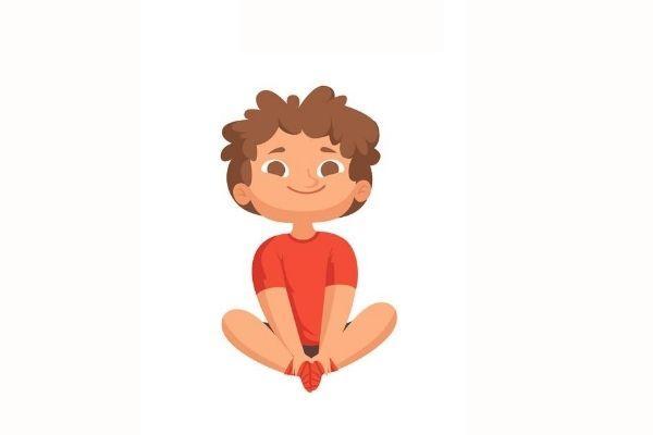 Posturas de yoga para niños - La flor