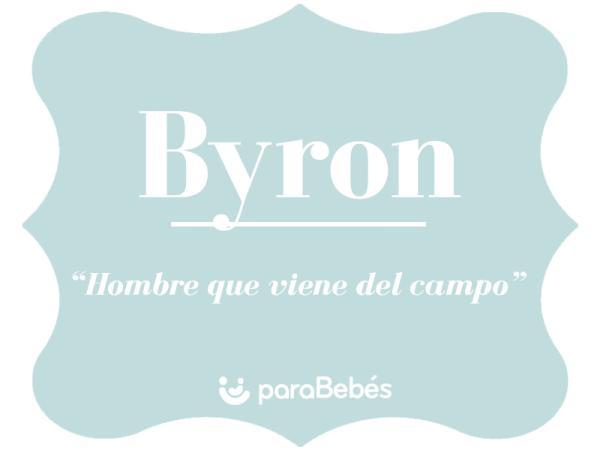 Significado del nombre Byron