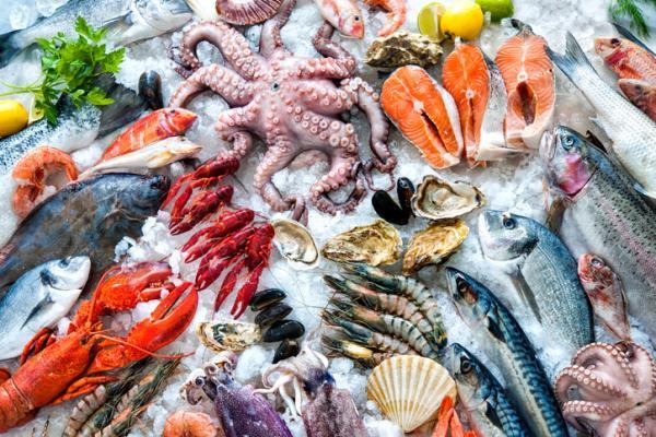 Alimentos con hierro para el embarazo - Mariscos y pescados