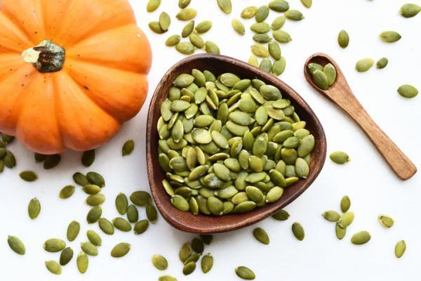 Alimentos con hierro para el embarazo - Semillas de calabaza
