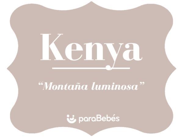 Significado del nombre Kenya