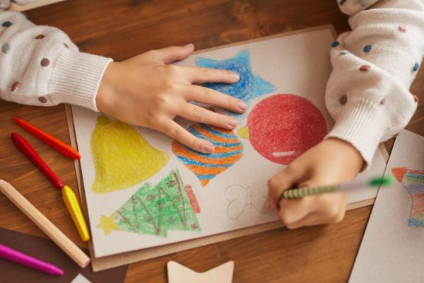 Actividades navideñas para niños/as - Fichas para colorear