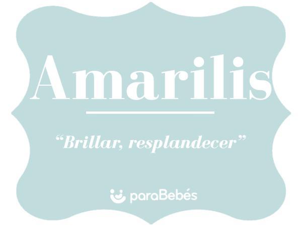 Significado del nombre Amarilis