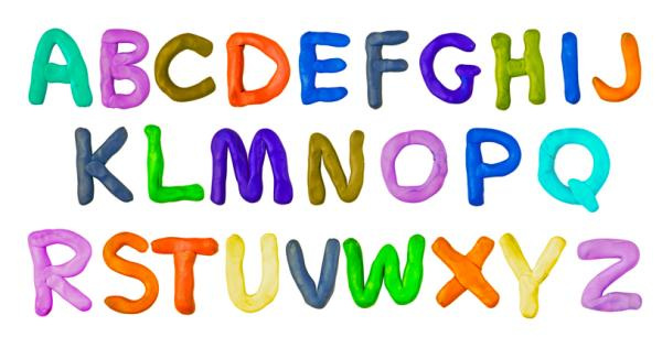 Juegos para aprender las letras - Letras con plastilina