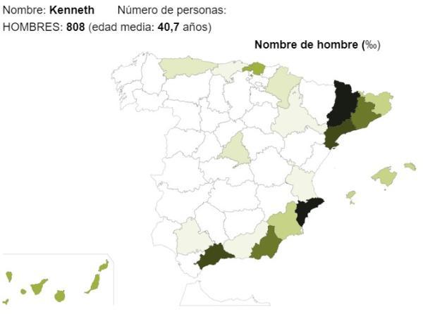 Significado del nombre Kenneth - Popularidad del nombre Kenneth