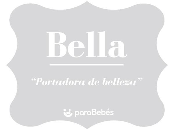 Significado del nombre Bella