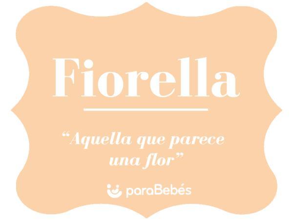 Significado del nombre Fiorella