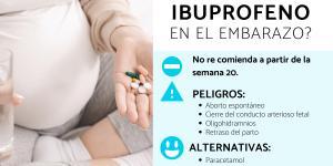 ¿Se puede tomar ibuprofeno en el embarazo?