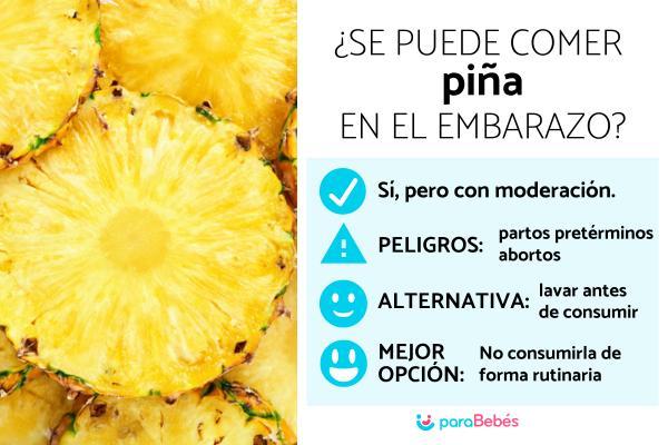 ¿Es bueno comer piña en el embarazo?