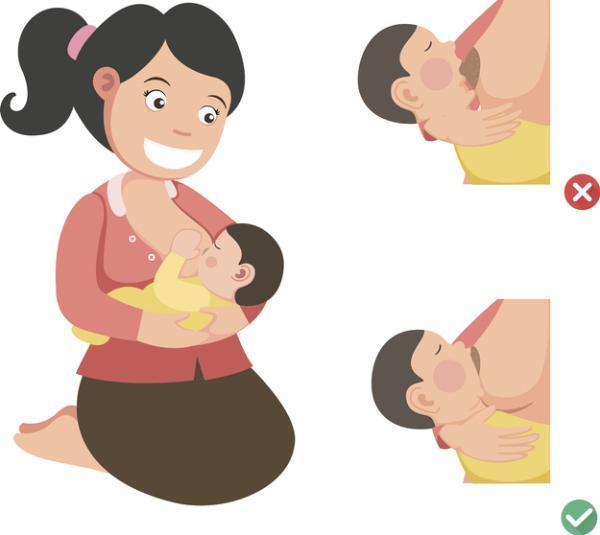 Cómo aliviar los cólicos del bebé: ejercicios, métodos y masajes - Mantener una posición correcta al comer