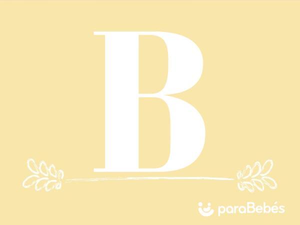 Nombres de niño con la letra B
