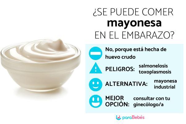 ¿Se puede comer mayonesa en el embarazo?