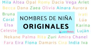 Nombres de niña originales y raros
