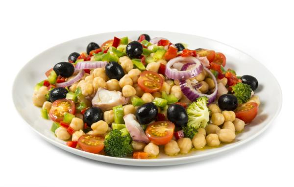 Cenas saludables para niños - Ensalada de garbanzos