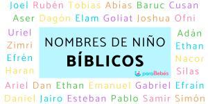 Nombres bíblicos para niños