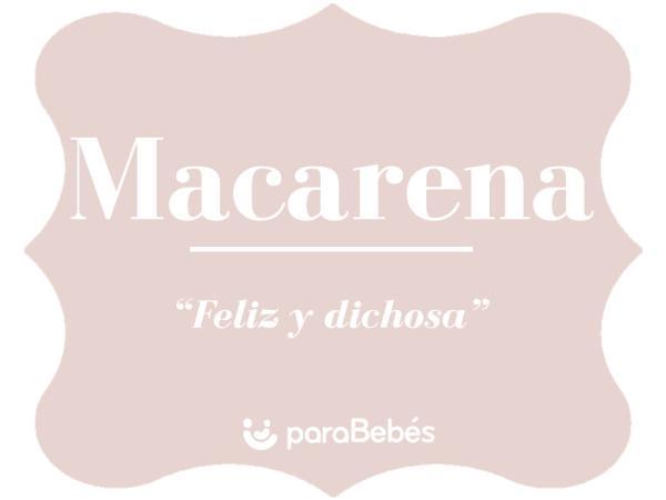 Significado del nombre Macarena